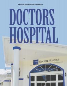 Doctors Hospital Grand Cayman brochure cover.