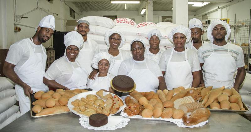 Glace Supermarket St. Lucia Bakery staff.