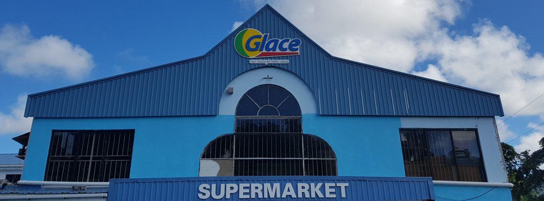 Glace Supermarket St. Lucia storefront.