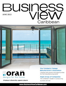 June 2015 issue cover of Business View Caribbean.