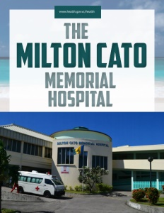 The Milton Cato Memorial Hospital brochure cover.