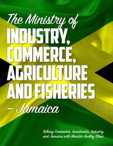 The Ministry of Industry, Commerce, Agriculture and Fisheries brochure cover.