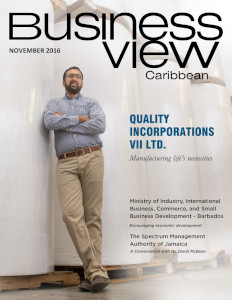 November 2016 Issue cover Business View Caribbean.