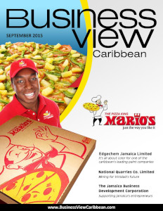 September 2015 Issue cover of Business View Caribbean.