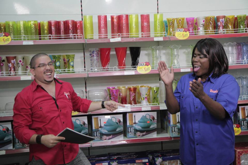 Bashco Trading Company employees having a good time in the store.