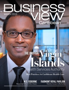 March 2019 issue cover of Business View Caribbean.