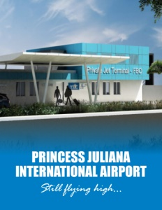 Princess Juliana International Airport brochure cover.