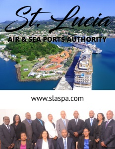 St. Lucia Air & Sea Ports Authority brochure cover.