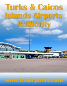 Turks & Caicos Islands Airports Authority brochure cover.