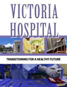 Victoria Hospital brochure cover.