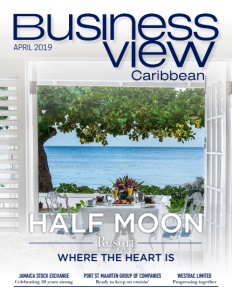 April 2019 issue cover of Business View Caribbean.