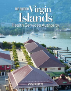 The British Virgin Islands Health Services Authority brochure cover.