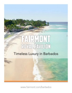 Fairmont Royal Pavilion Barbados brochure cover.