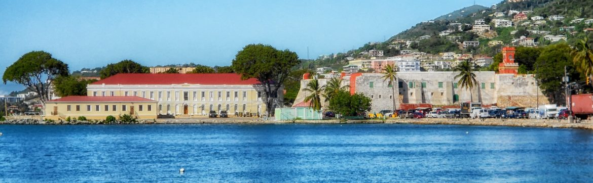 Lockhart Realty Inc.; View of St. Thomas buildings on the water.