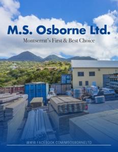 M.S. Osborne Ltd. Montserrat brochure cover.
