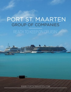 Port St. Maarten Group of Companies brochure cover.