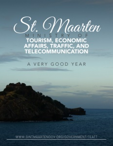 St. Maarten Ministry of Tourism, Economic Affairs, Traffic, and Telecommunication brochure cover.