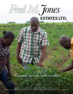 Fred M. Jones Estates Ltd brochure cover.