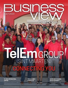 July 2019 issue cover of Business View Caribbean.