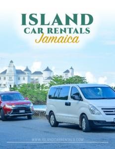 Island Car Rentals Jamaica brochure cover.