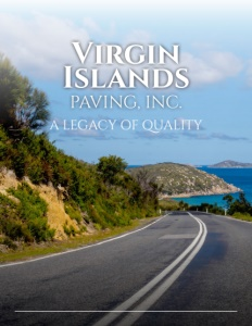 Virgin Islands Paving Inc. brochure cover.