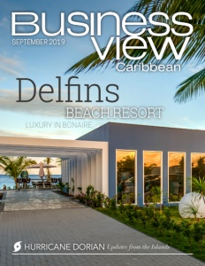 September 2019 Issue cover of Business View Caribbean, a business to business magazine for the Caribbean.