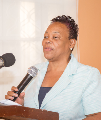 The Honorable Minister Roselyn Paul of the Ministry of Commerce, Enterprise and Small Business Development - Dominica