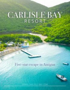 Carlisle Bay Resort brochure cover.