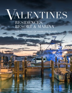 Valentines Residences, Resort & Marina brochure cover.
