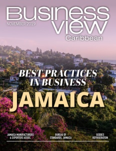 November 2019 issue cover of Business View Caribbean.