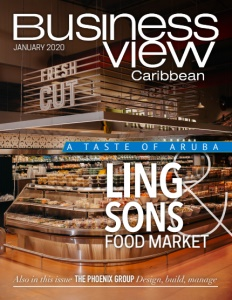 January 2020 issue cover of Business View Caribbean.
