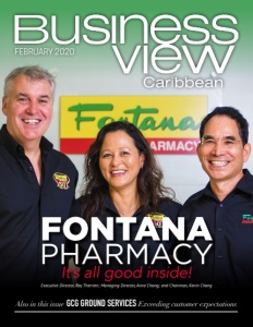 February 2020 issue cover of Business View Caribbean.