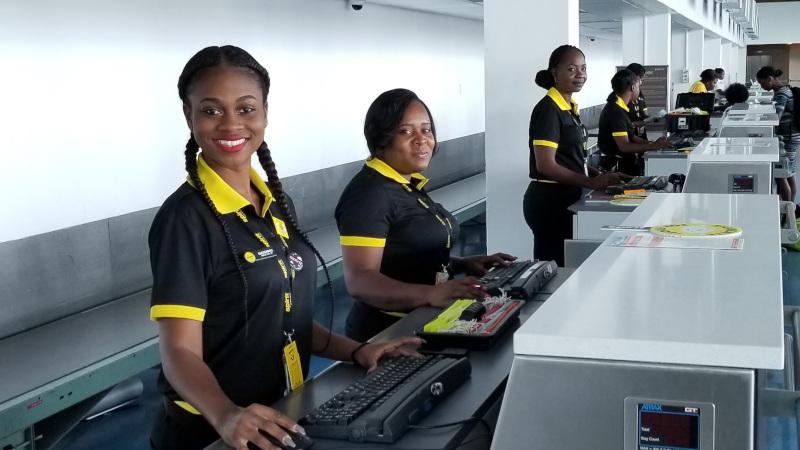 GCG Ground Services interior view of service desk employees