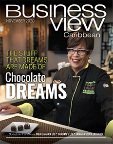 November 2020 issue cover of Business View Caribbean.