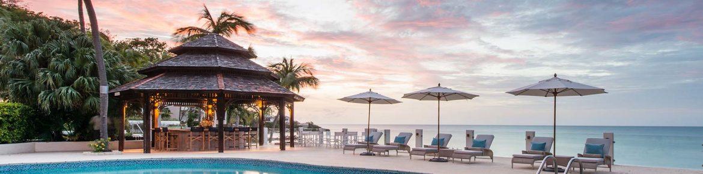 Blue Waters Resort & Spa poolside ocean view.