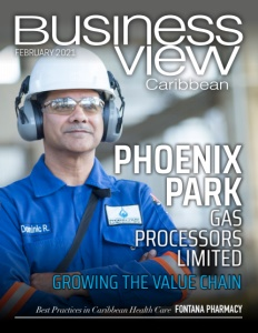 February 2021 issue cover of Business View Caribbean.