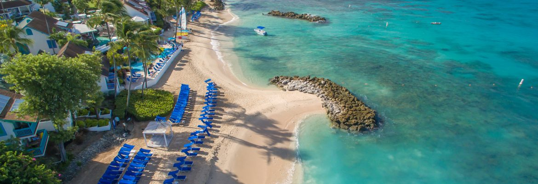 Elegant Hotels Group Barbados aerial beach view