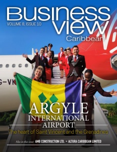 Volume 8, Issue 10 cover of Business View Caribbean.